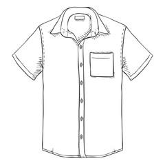 Vector Sketch Short Sleeve Men Shirt