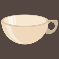 Mug icon. Vector illustration of a cup for tea or coffee. Logo mug for tea or coffee. Empty cup.