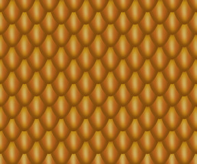 Realistic Orange Dragon Scales
