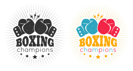vintage logos for a boxing