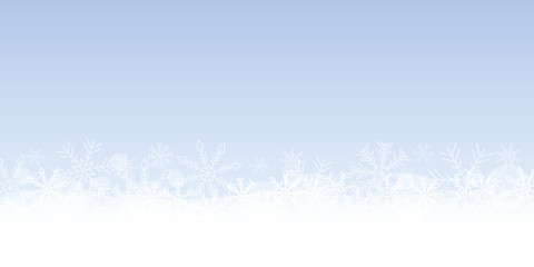 blue bright winter background with snowflakes vector illustration EPS10