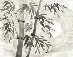 bamboo and moon