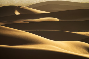 Background with of sandy dunes in desert