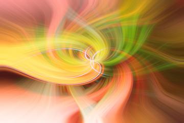 abstrakter Hintergrund in rot, grün und gelb mit twirl effect