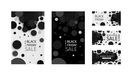 Black Friday Sale Promotional Black Confetti Banner