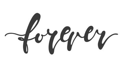 Forever hand drawn lettering element
