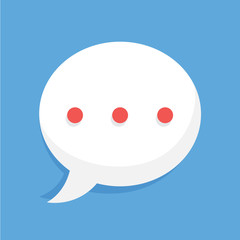 Rounded speech bubble from the online chat