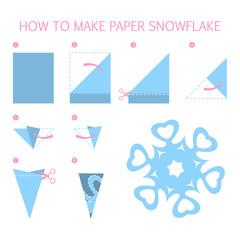 How to make christmas blue snowflake diy