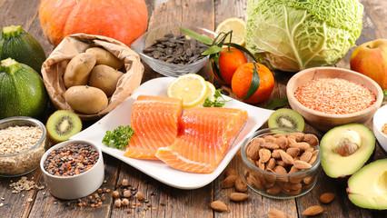 assorted healthy food