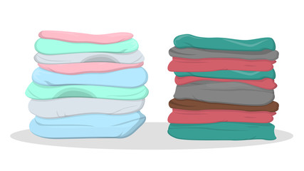 Pile of clothes of the different color
