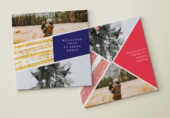Ensemble de cartes de vœux modernes avec grille