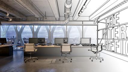 Design of office interior concept
