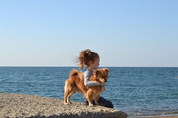 child with dog photos
