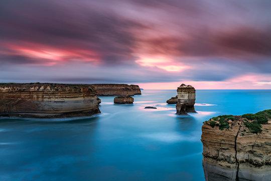Twelve Apostles Australia Ocean Island long exposure