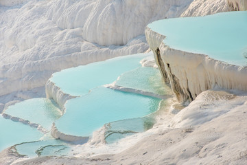 Pamukkale, natural pool with blue water, Turkey