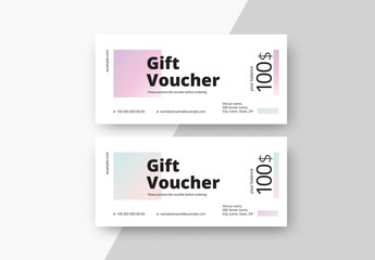 Gift Voucher Layouts with Gradients
