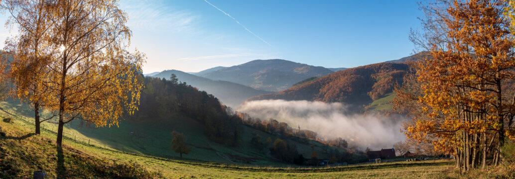 Le canton vert, Hachimette dans le brouillard d'automne