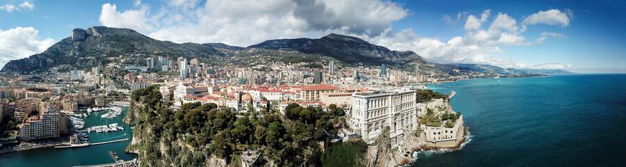 Drohnen Blick auf Monaco Hafen Fontvieille
