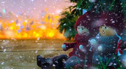 Boy and Girl Christmas
