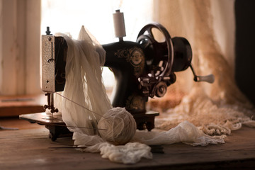 Art photography with an old sewing machine