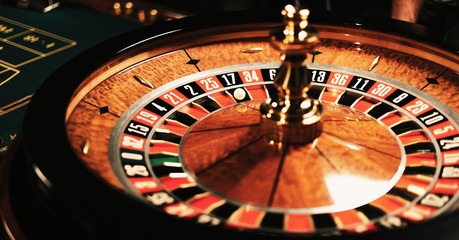 High contrast image of casino roulette background