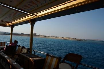 Bateau de plaisance « Néfertari » au large de port Ghalib (Egypte)
