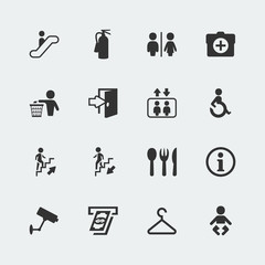 Vector public signs icons set