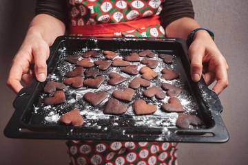 Burnt gingerbread cookies