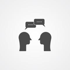 Conversation vector icon sign symbol