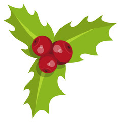 Christmas holly. Set of different holly for christmas. Different new year characters. Colorful cartoon holly . New Year characters in the form of Christmas holly. Merry Xmas design element.