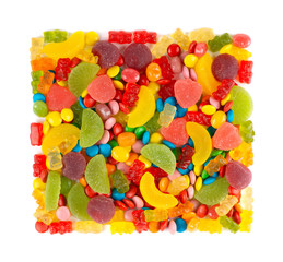 Mixed colorful candies
