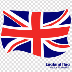 Bright abstract background with flag of England. Happy England day background. Illustration with transparent background. Bright illustration with flag.
