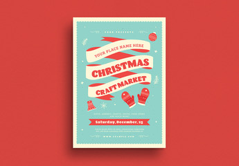 Christmas Craft Market Flyer Layout