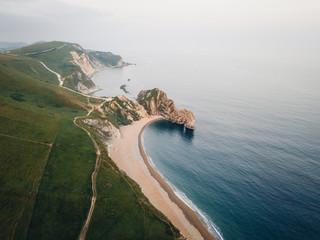 Durdle door jurassic coast aerial
