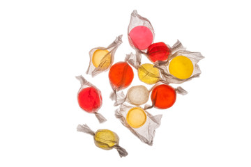 An assortment of hard candies,