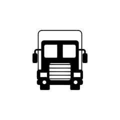 front view truck, travel icon. Element of transport front view icon for mobile concept and web apps. Glyph front view truck, travel icon can be used for web and mobile