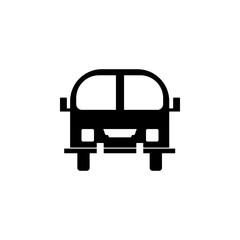 front view bus, car icon. Element of transport front view icon for mobile concept and web apps. Glyph front view bus, car icon can be used for web and mobile