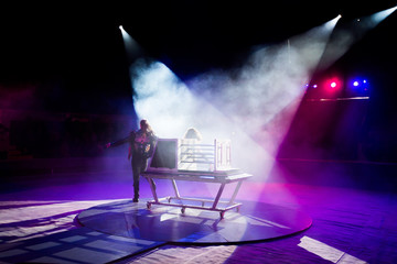 magician performances in the circus