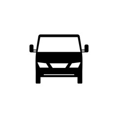 front view machine, car icon. Element of transport front view icon for mobile concept and web apps. Glyph front view machine, car icon can be used for web and mobile