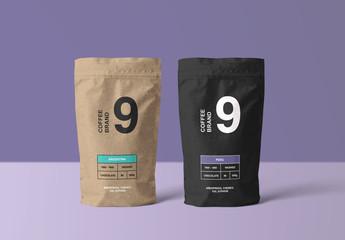 Paper Coffee Bags Mockup