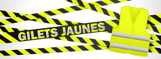 French yellow vest banner