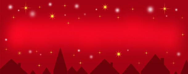 Roter Nachthimmel über der Stadt