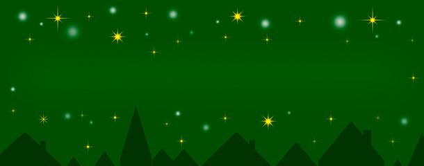 Funkelnde Sterne über der Stadt