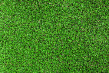 Artificial grass carpet as background, top view. Exterior element