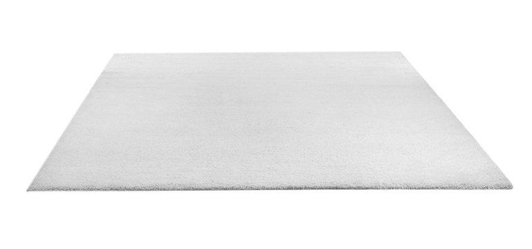 Soft carpet on white background. Interior element