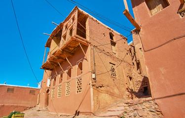 Adobe village in Karkas mountains, Abyaneh, Iran
