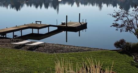 November Day at Lake Meridian, WA with Reflections 1