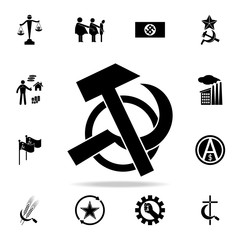 hammer and sickle icon. Detailed set of communism and socialism icons. Premium graphic design. One of the collection icons for websites, web design, mobile app