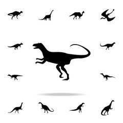 Allosaurus icon. Detailed set of dinosaur icons. Premium graphic design. One of the collection icons for websites, web design, mobile app