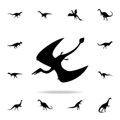 Pterodactyloidea icon. Detailed set of dinosaur icons. Premium graphic design. One of the collection icons for websites, web design, mobile app